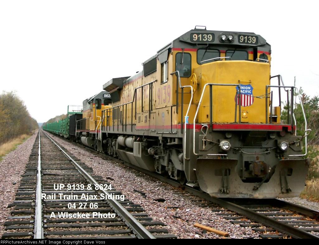 UP 9139 Rail Train Ajax Siding